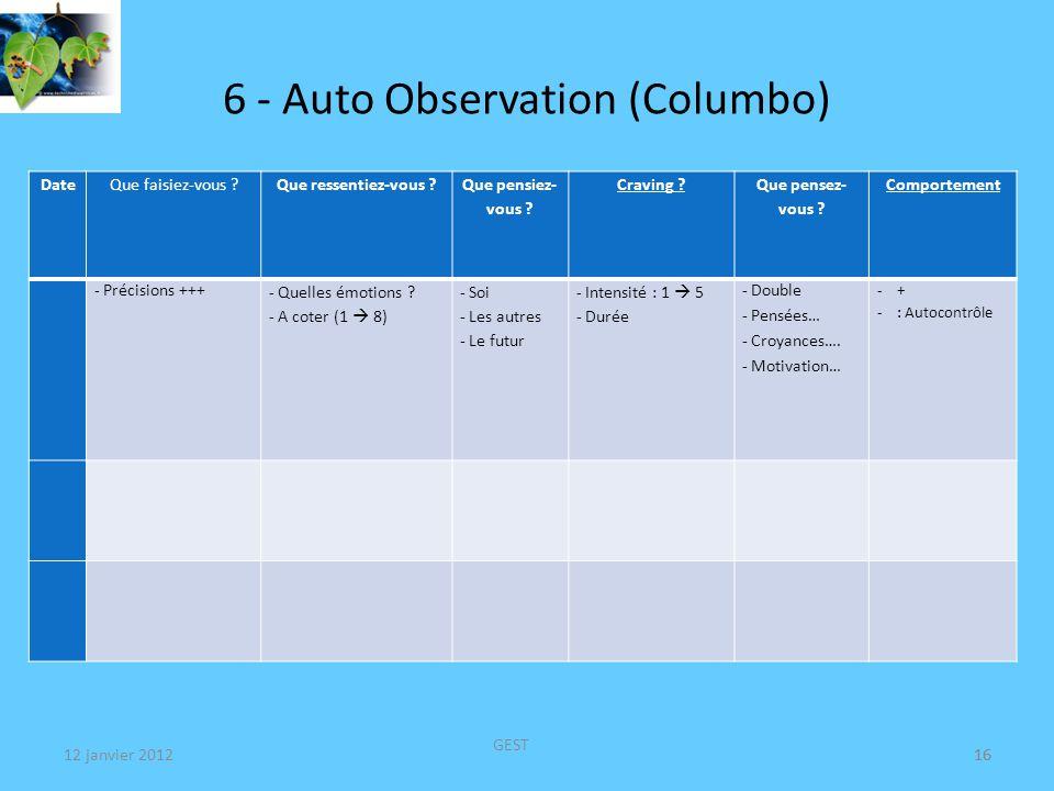 6 - Auto Observation (Columbo)