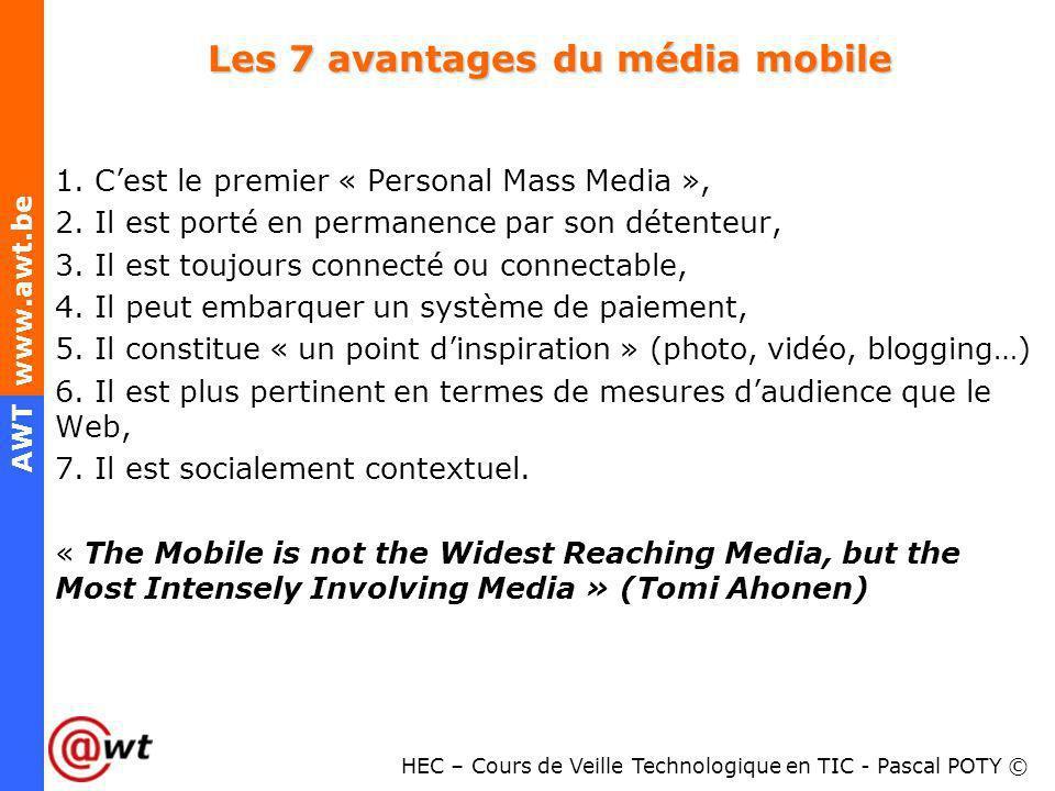 Les 7 avantages du média mobile