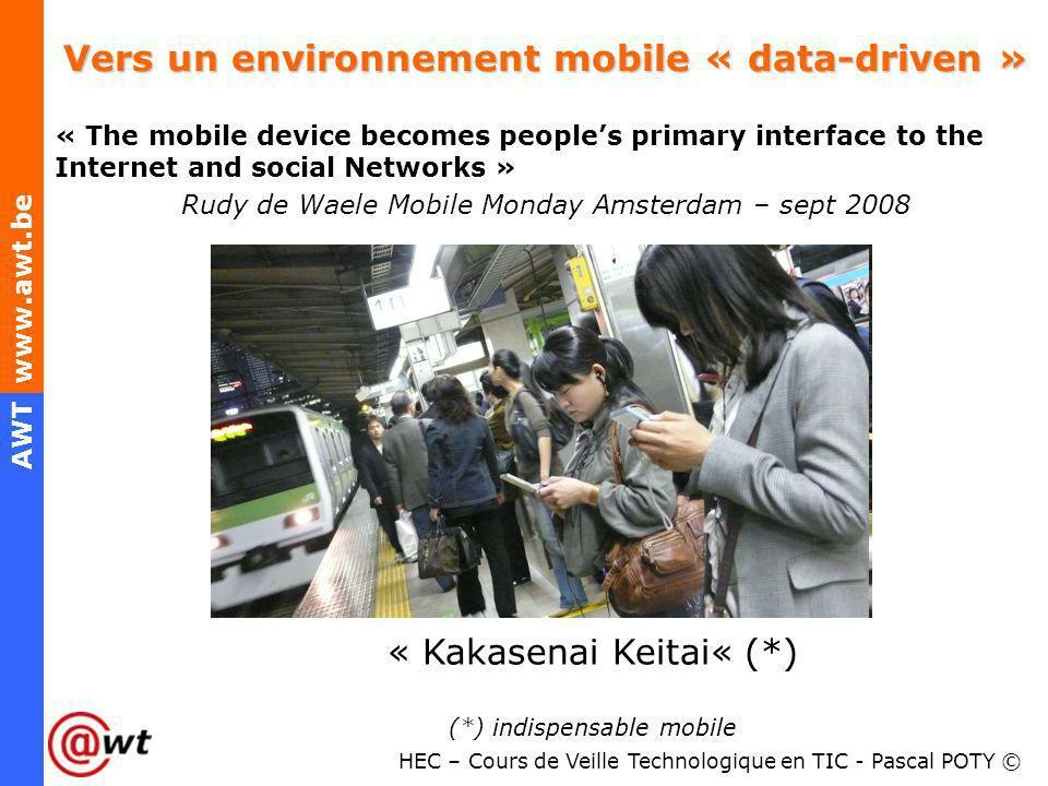 Vers un environnement mobile « data-driven »
