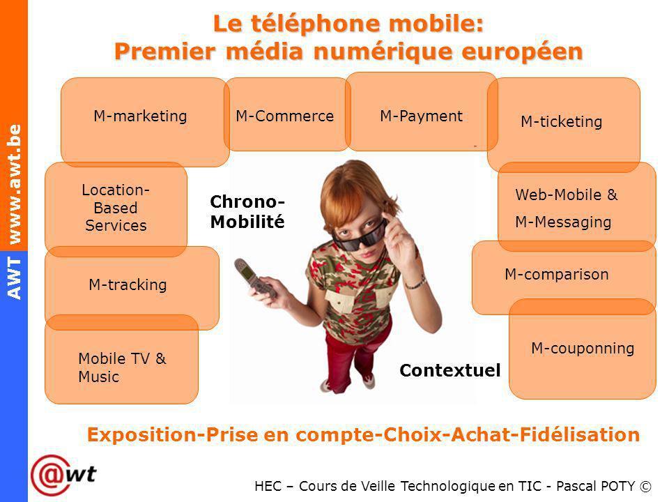 Le téléphone mobile: Premier média numérique européen