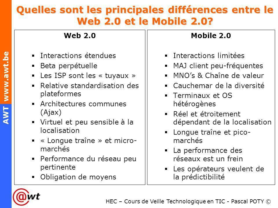 Quelles sont les principales différences entre le Web 2