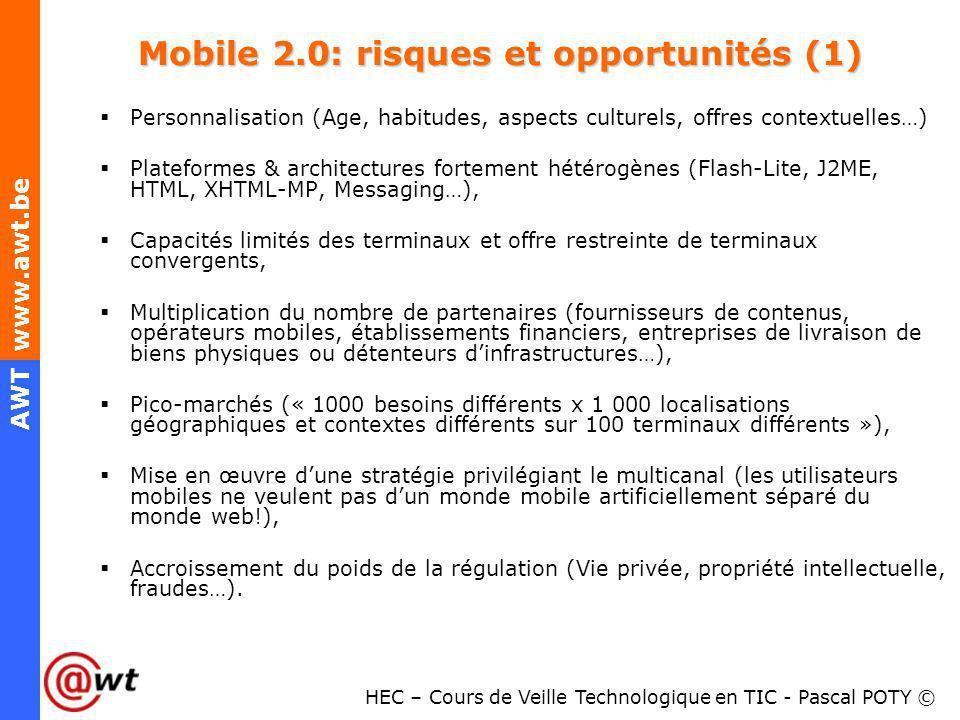 Mobile 2.0: risques et opportunités (1)