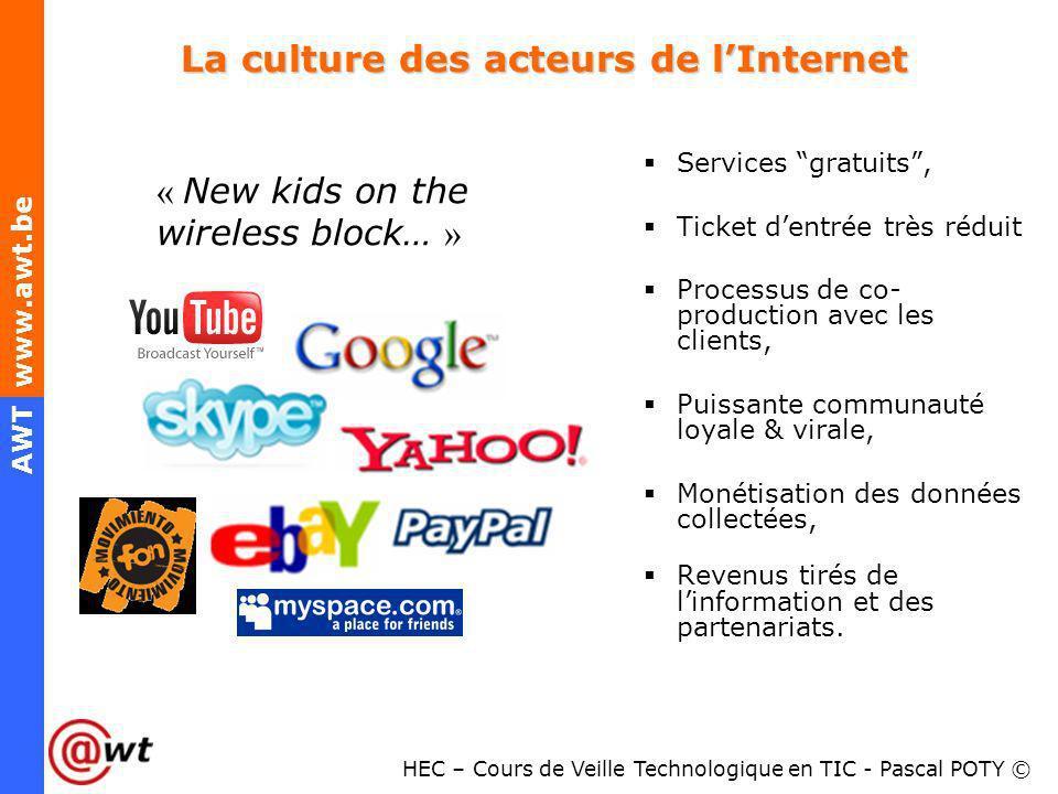 La culture des acteurs de l'Internet
