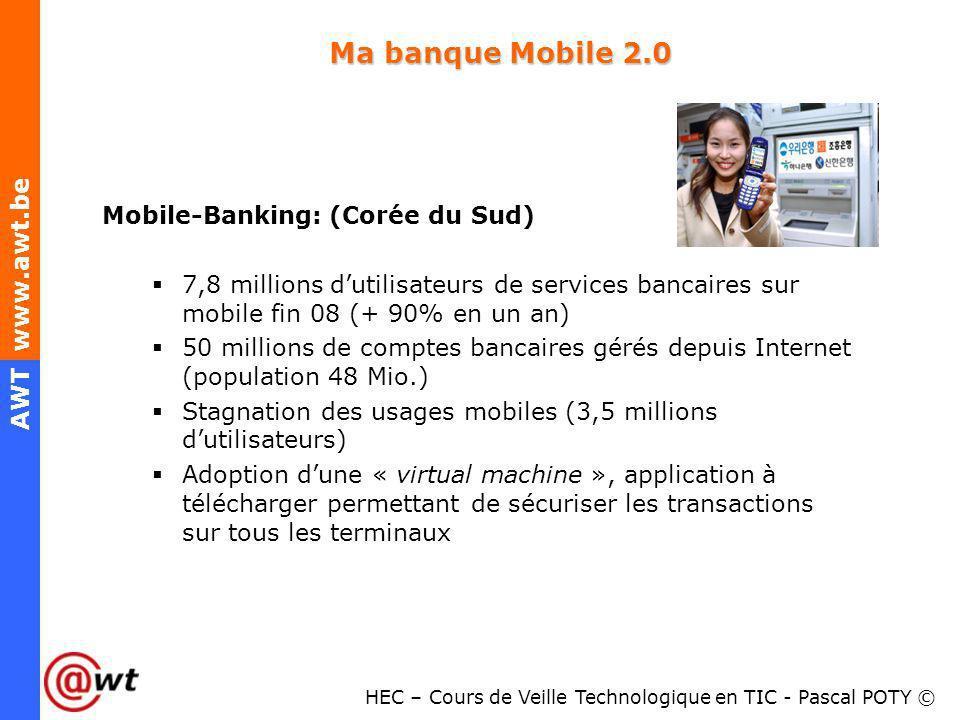 Ma banque Mobile 2.0 Mobile-Banking: (Corée du Sud)