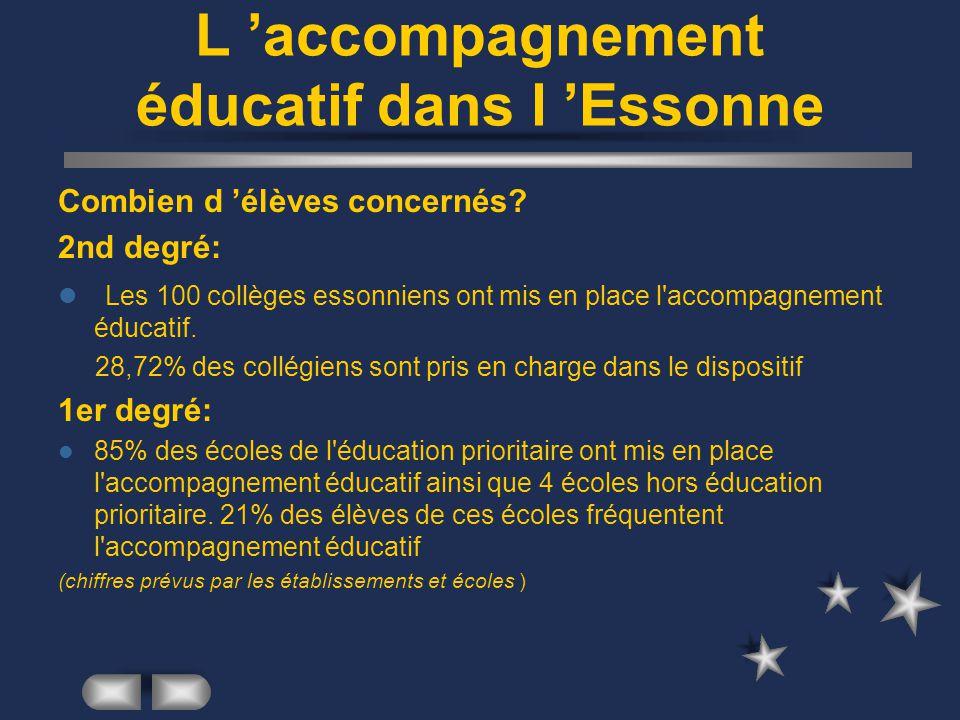 L 'accompagnement éducatif dans l 'Essonne