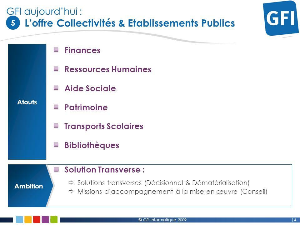 GFI aujourd'hui : L'offre Collectivités & Etablissements Publics