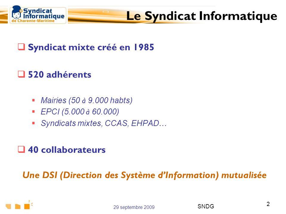 Une DSI (Direction des Système d'Information) mutualisée
