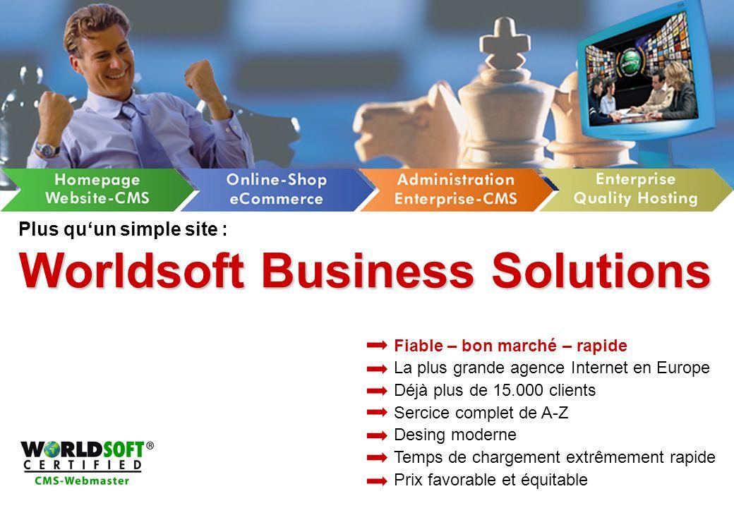 Plus qu'un simple site : Worldsoft Business Solutions