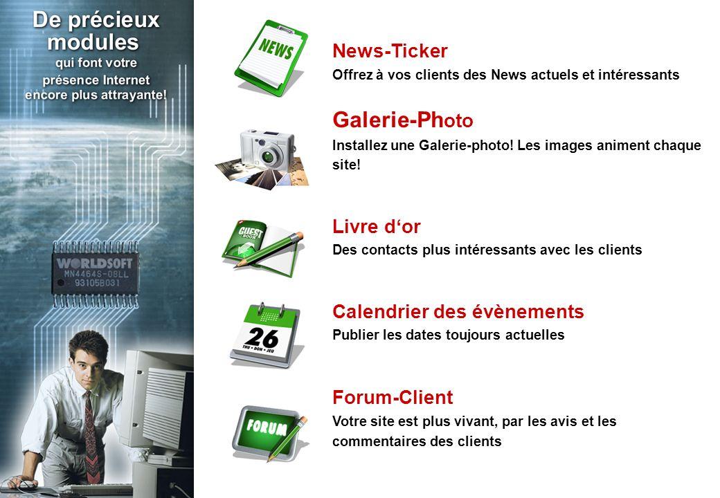 News-Ticker Offrez à vos clients des News actuels et intéressants