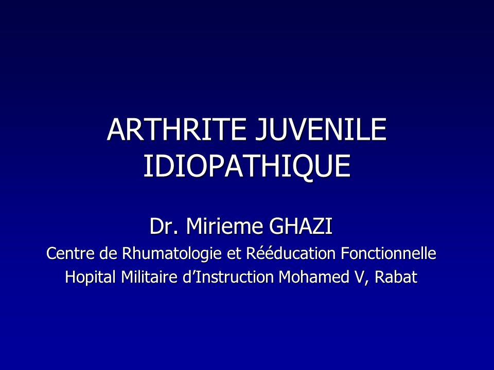ARTHRITE JUVENILE IDIOPATHIQUE