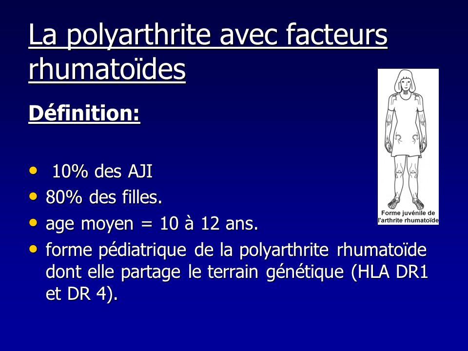 La polyarthrite avec facteurs rhumatoïdes