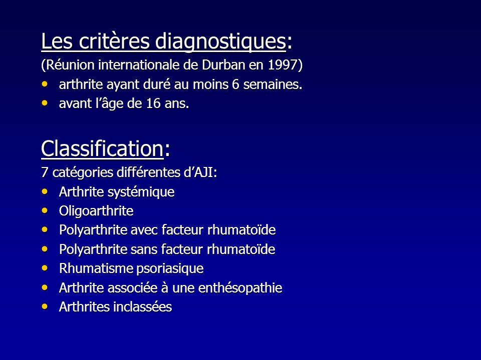 Les critères diagnostiques: