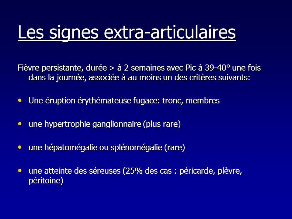 Les signes extra-articulaires