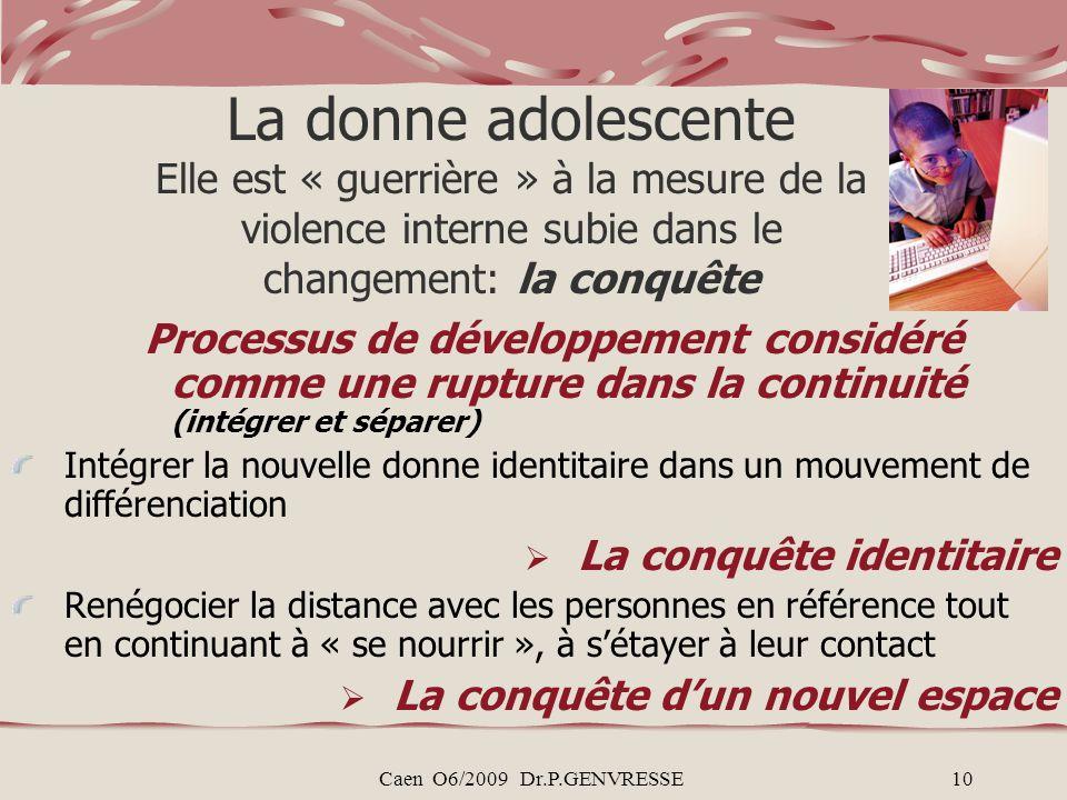 La donne adolescente Elle est « guerrière » à la mesure de la violence interne subie dans le changement: la conquête