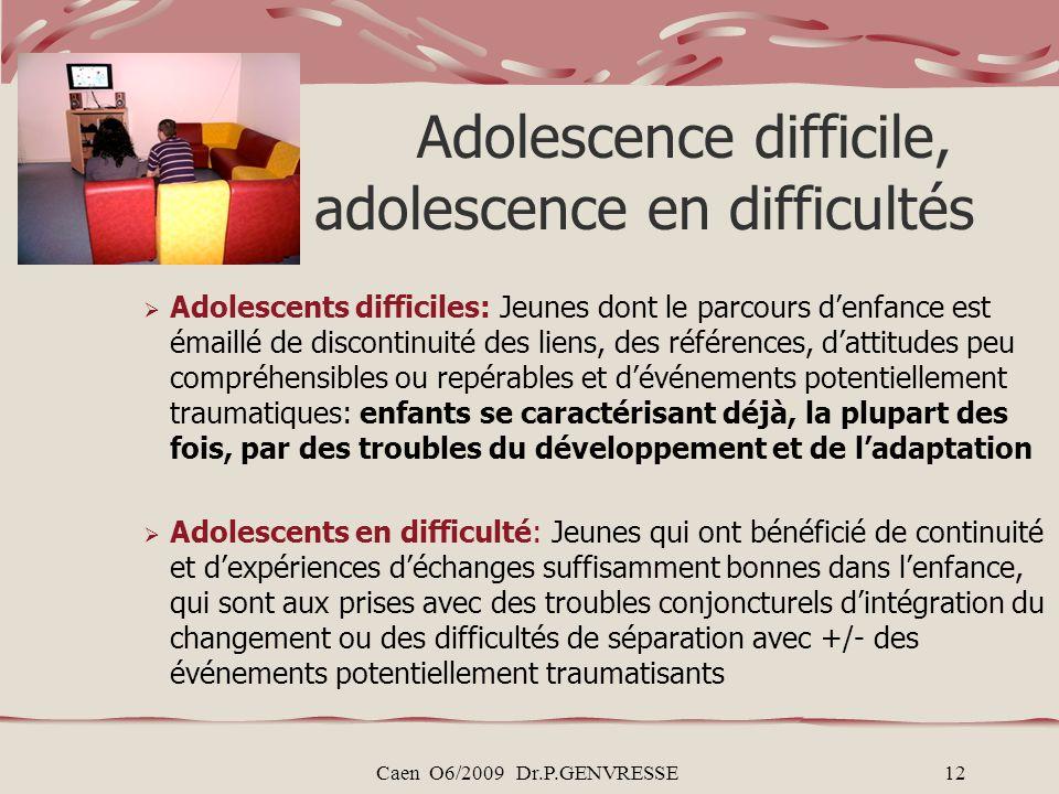 Adolescence difficile, adolescence en difficultés