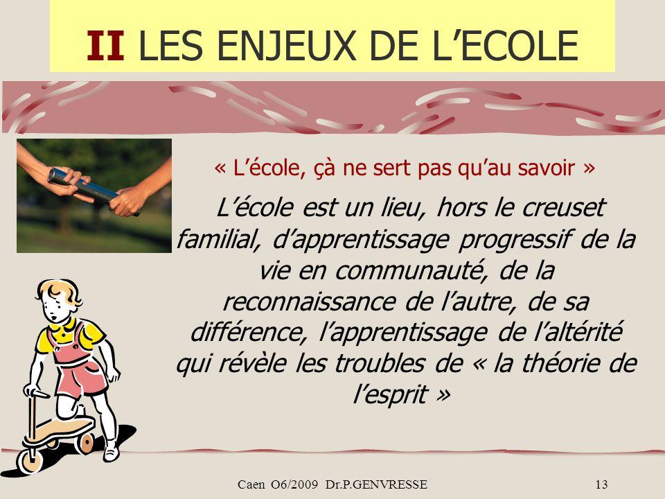 II LES ENJEUX DE L'ECOLE