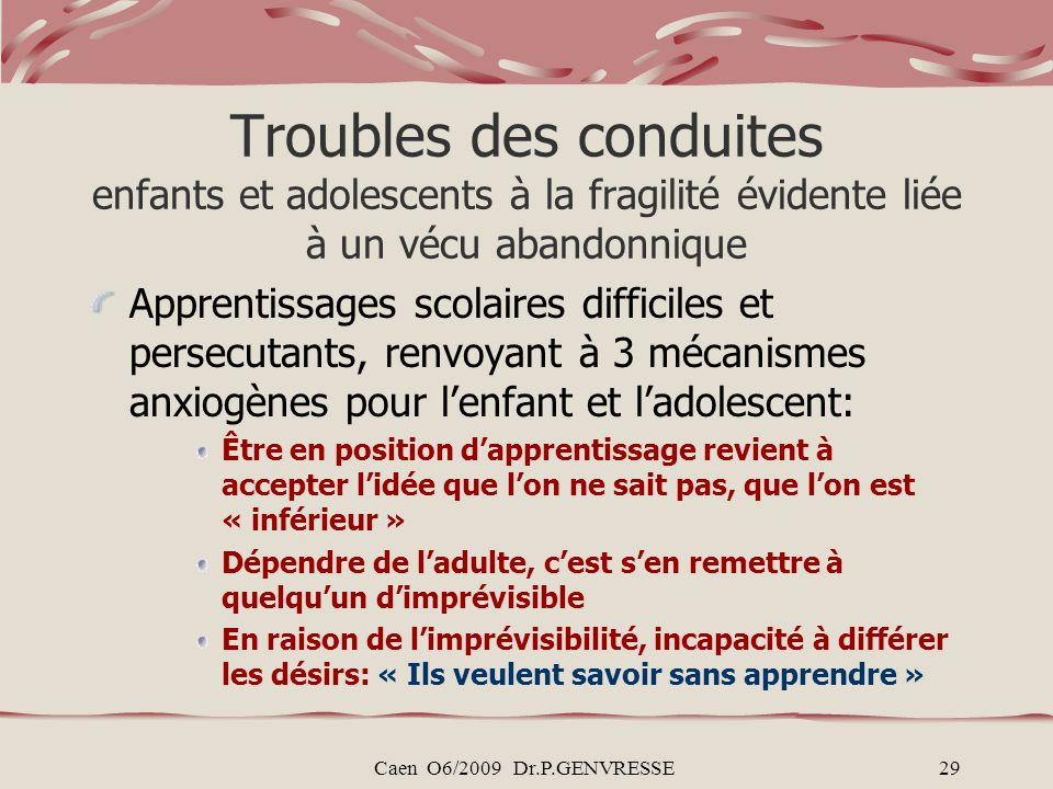 trouble de l adaptation pdf