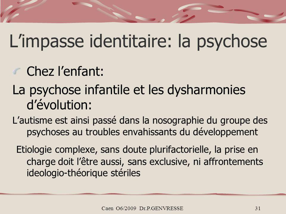 L'impasse identitaire: la psychose