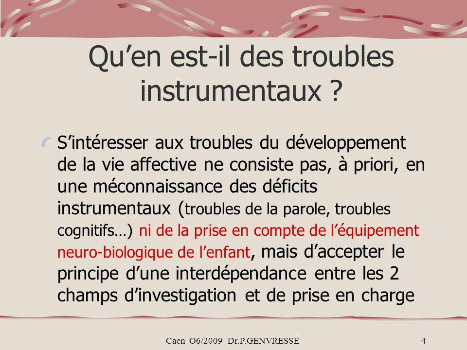 Qu'en est-il des troubles instrumentaux