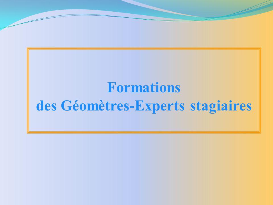 des Géomètres-Experts stagiaires