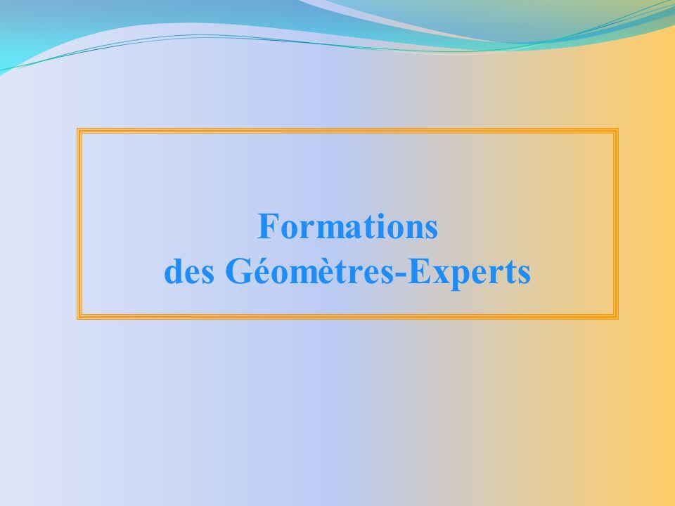 des Géomètres-Experts