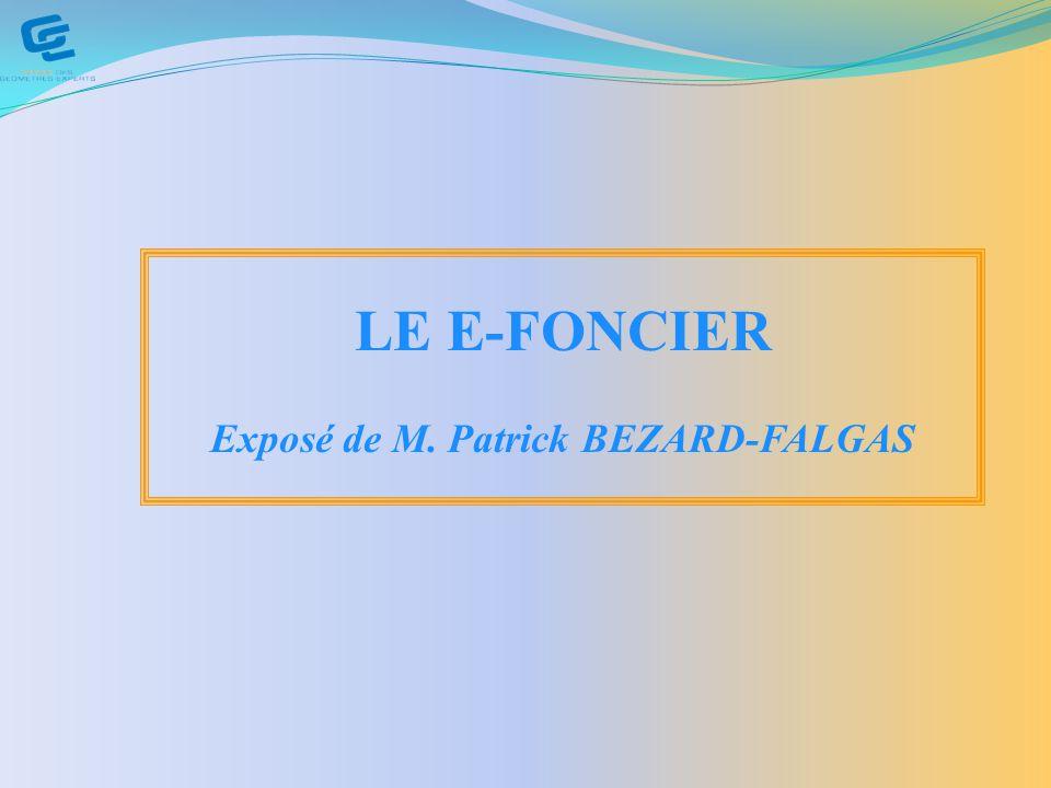 Exposé de M. Patrick BEZARD-FALGAS