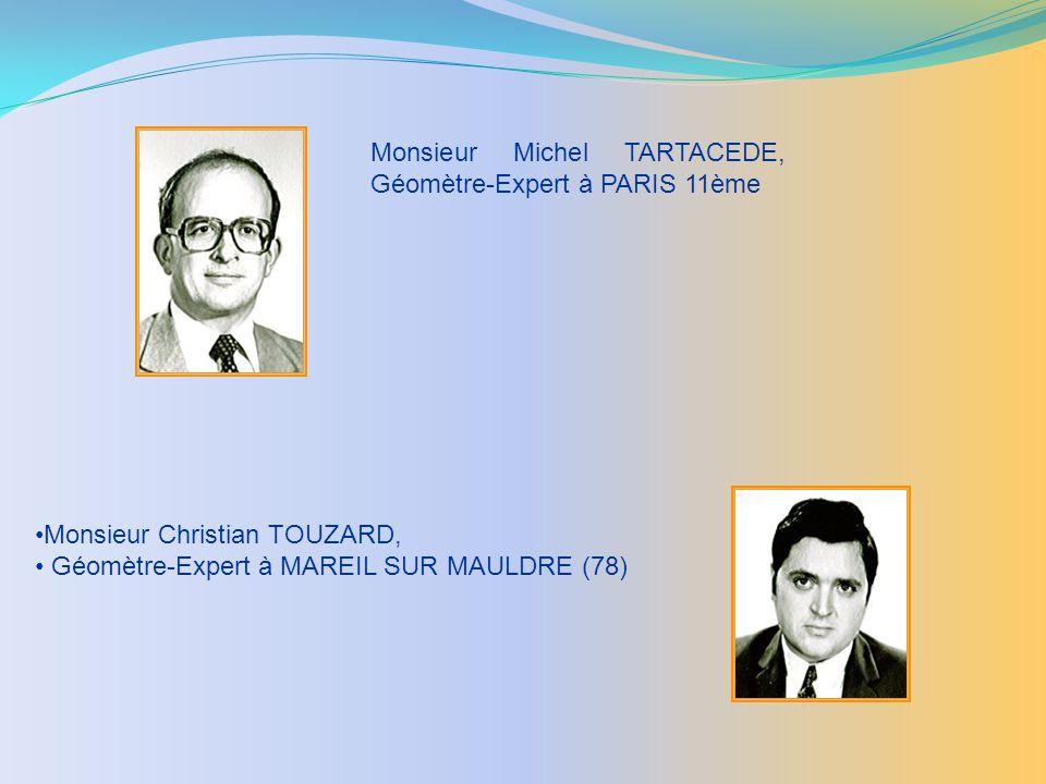 Monsieur Michel TARTACEDE, Géomètre-Expert à PARIS 11ème