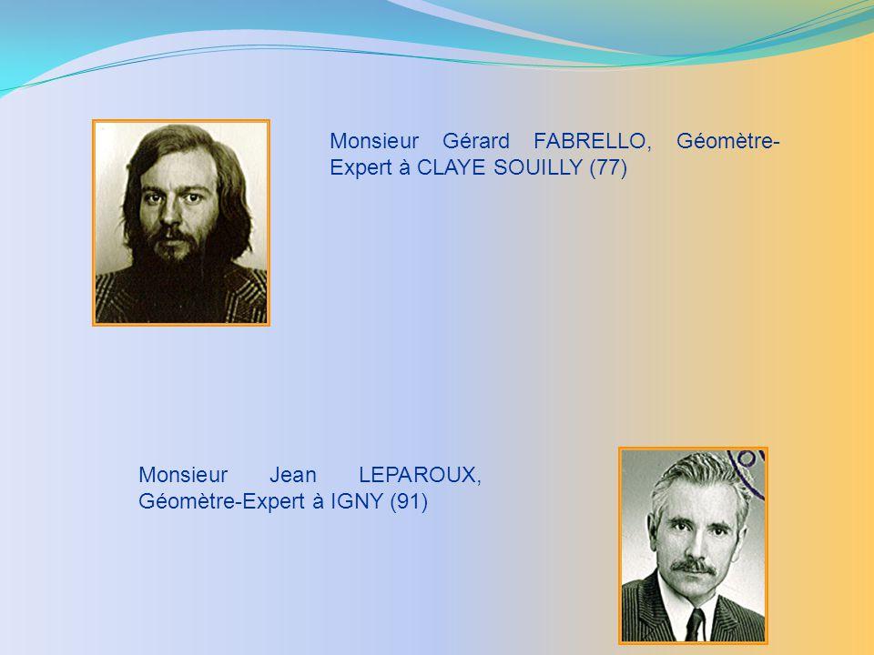 Monsieur Gérard FABRELLO, Géomètre-Expert à CLAYE SOUILLY (77)