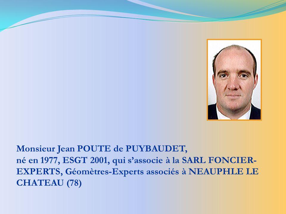 Monsieur Jean POUTE de PUYBAUDET,