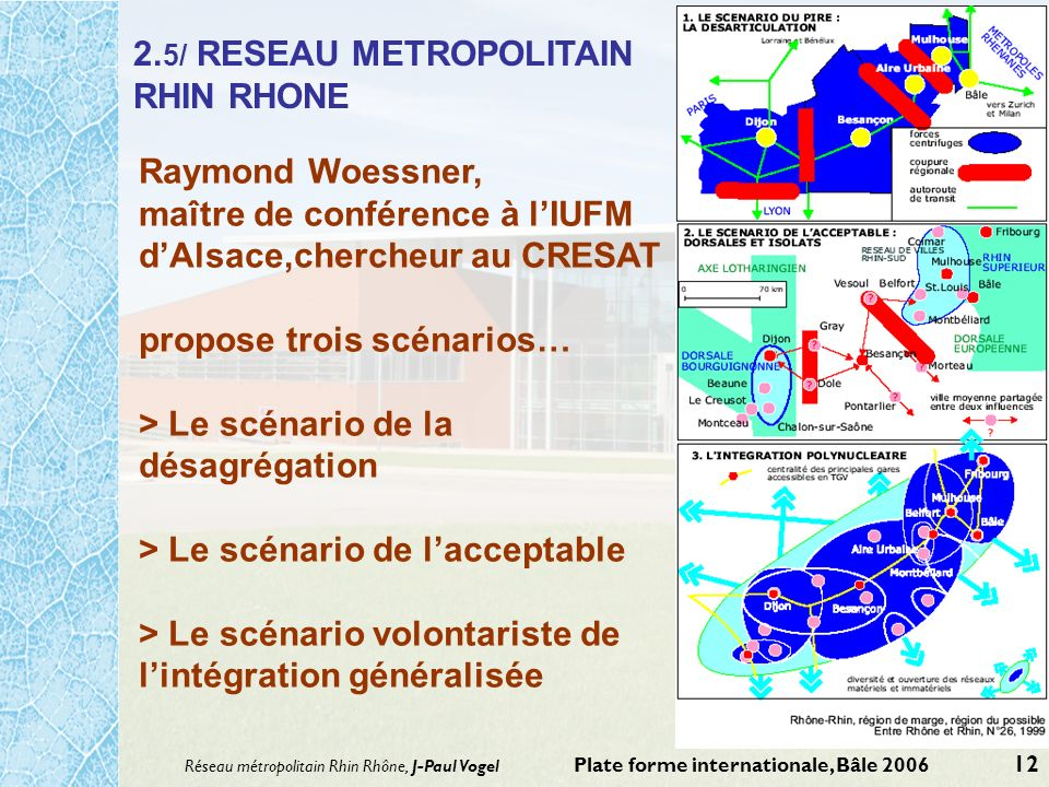 2.5/ RESEAU METROPOLITAIN RHIN RHONE
