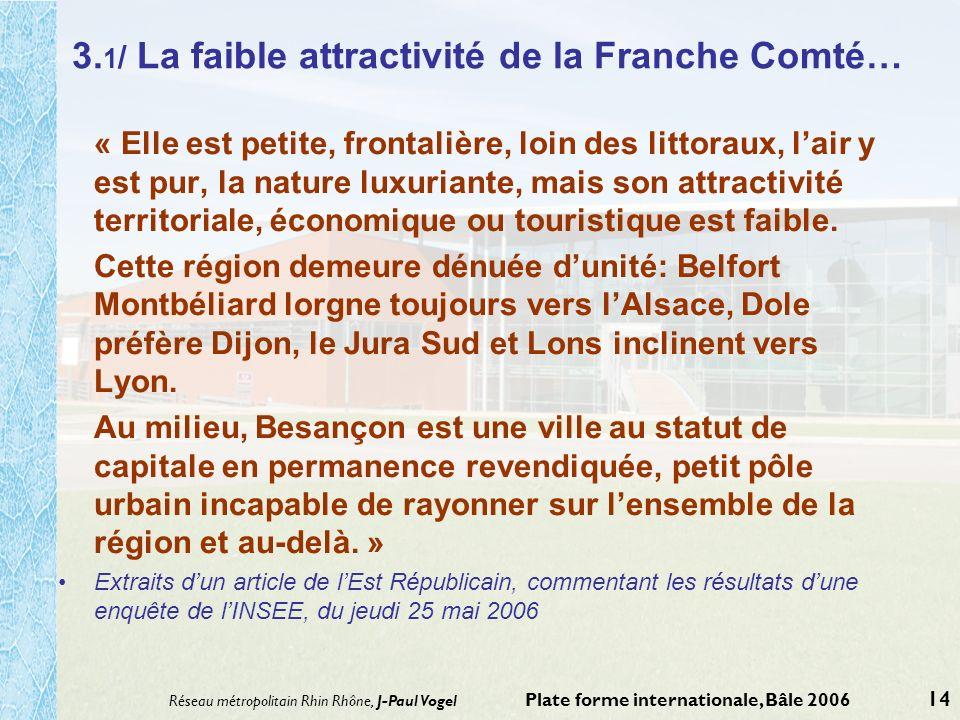 3.1/ La faible attractivité de la Franche Comté…