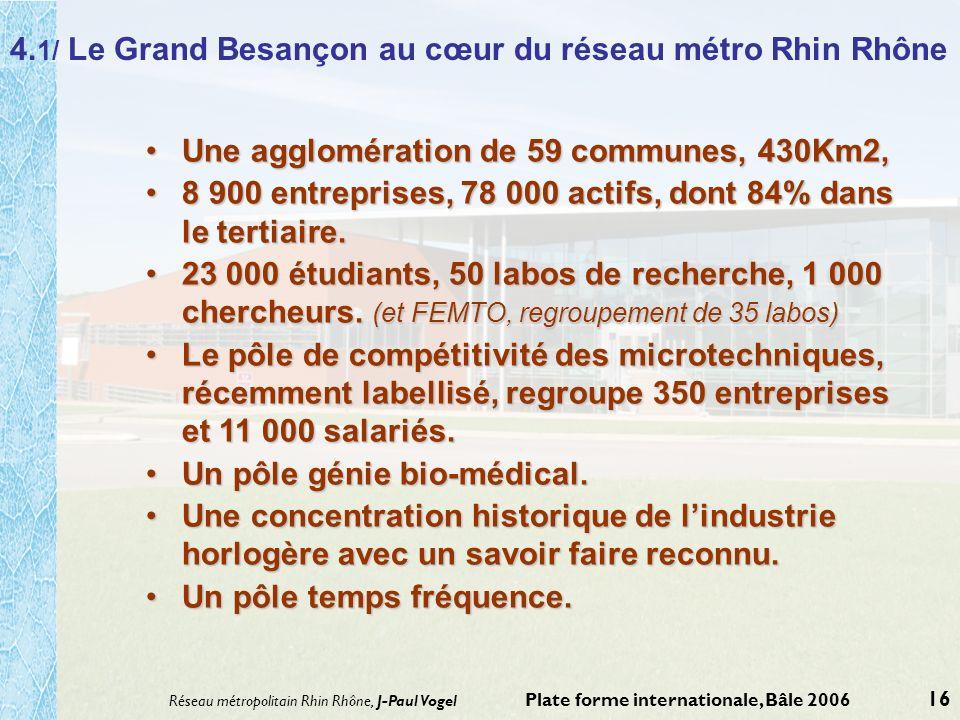 4.1/ Le Grand Besançon au cœur du réseau métro Rhin Rhône