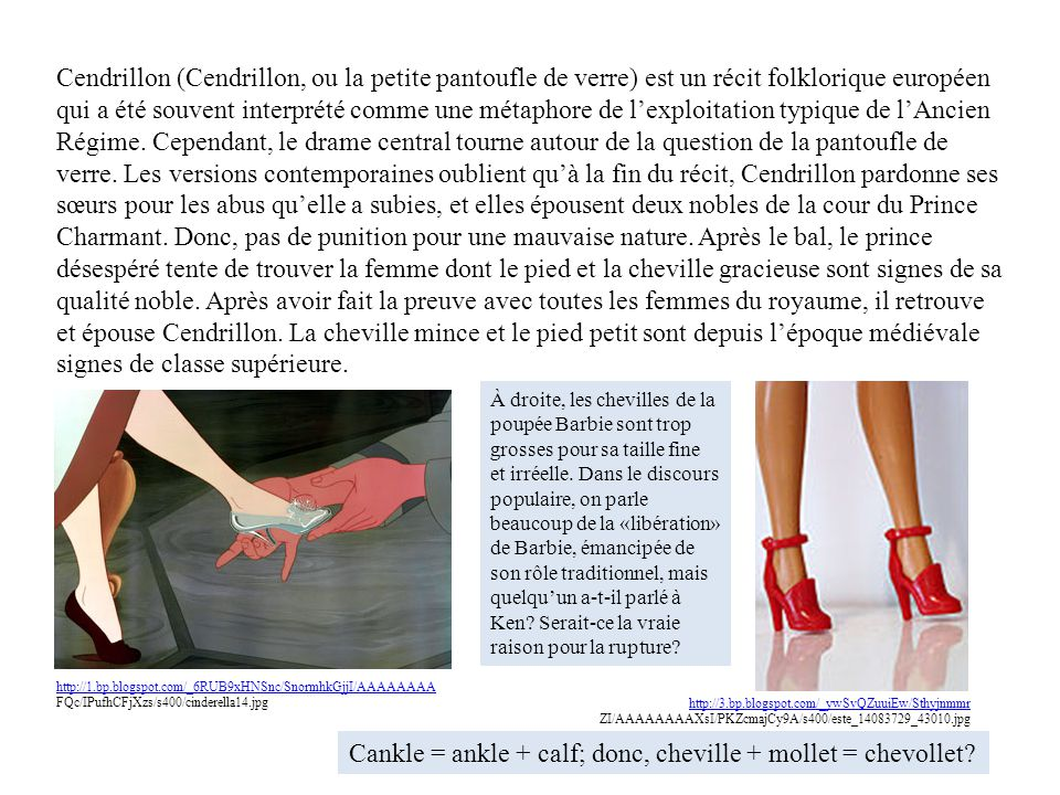 Cankle = ankle + calf; donc, cheville + mollet = chevollet