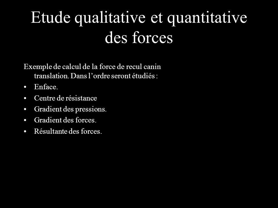 Etude qualitative et quantitative des forces