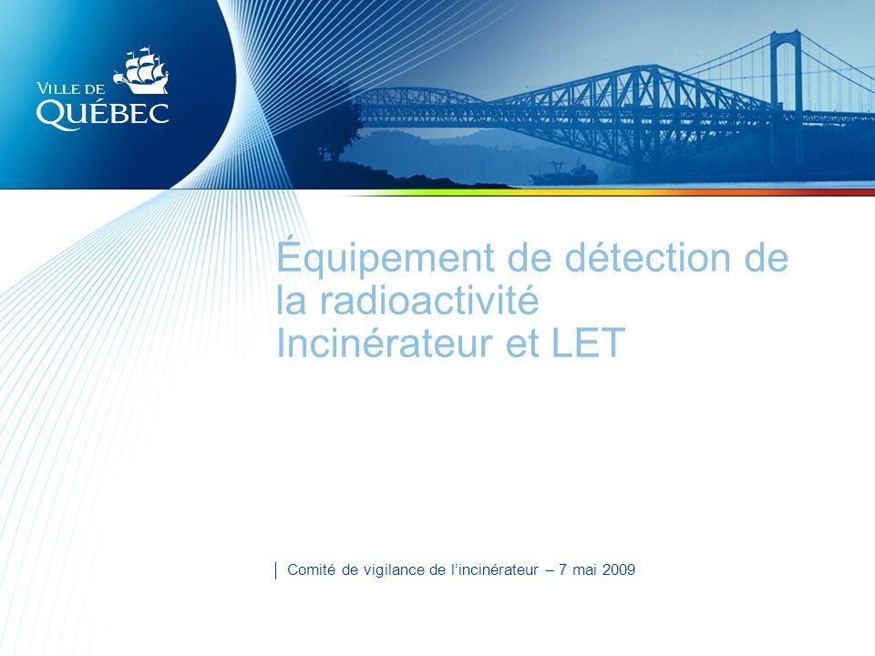 Équipement de détection de la radioactivité Incinérateur et LET