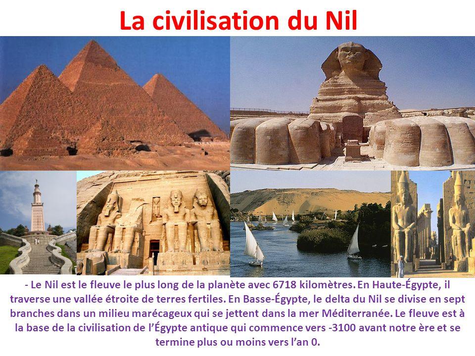 La civilisation du Nil