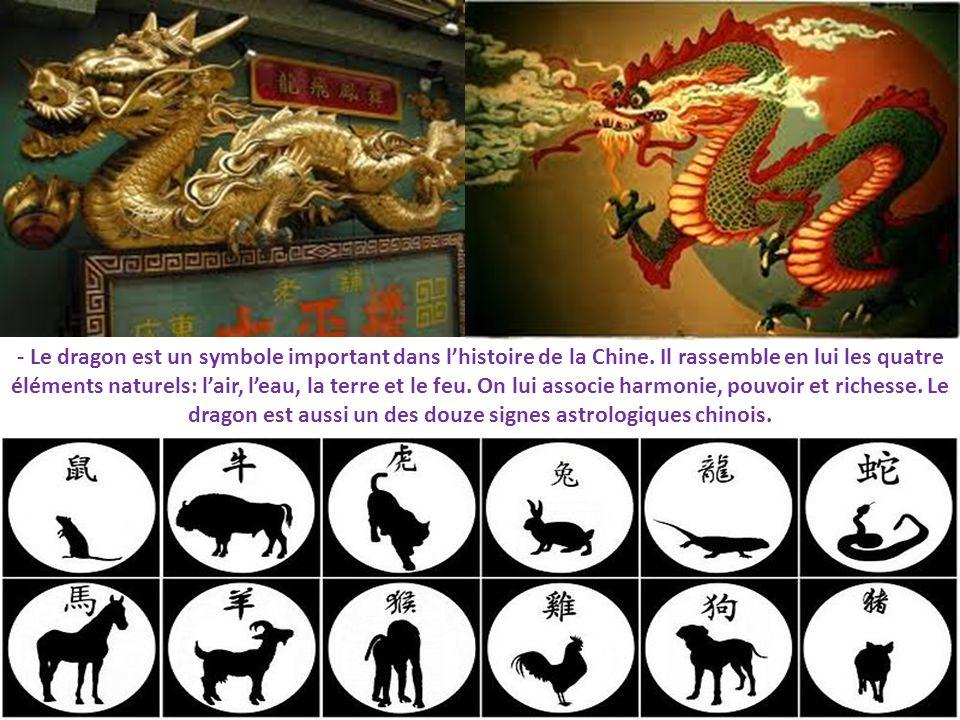 - Le dragon est un symbole important dans l'histoire de la Chine