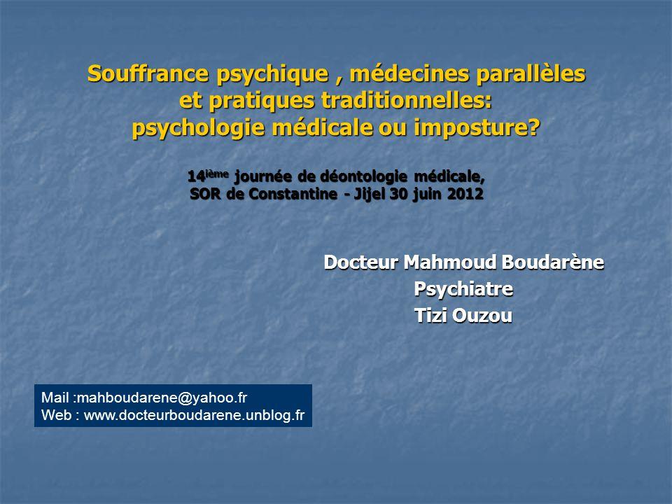 Docteur Mahmoud Boudarène