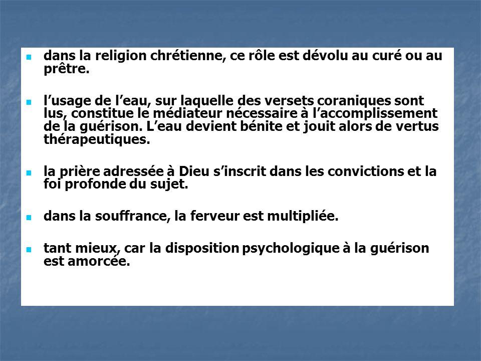 dans la religion chrétienne, ce rôle est dévolu au curé ou au prêtre.