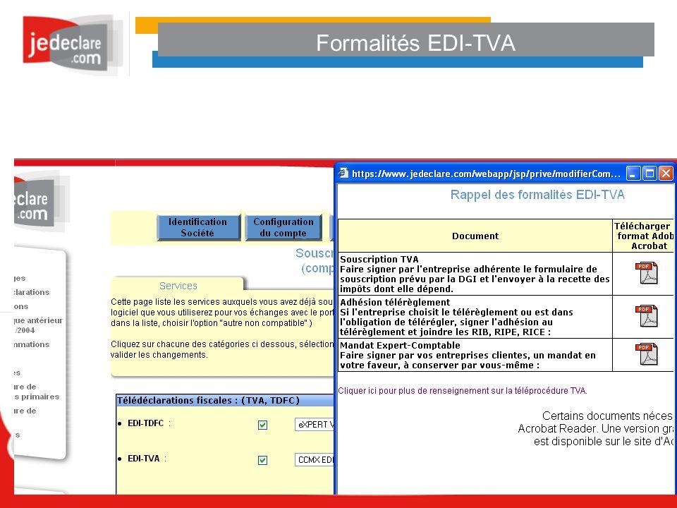 Formalités EDI-TVA
