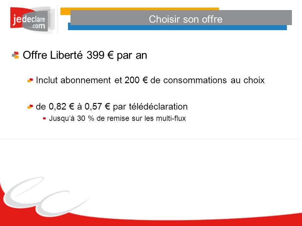 Offre Liberté 399 € par an Choisir son offre