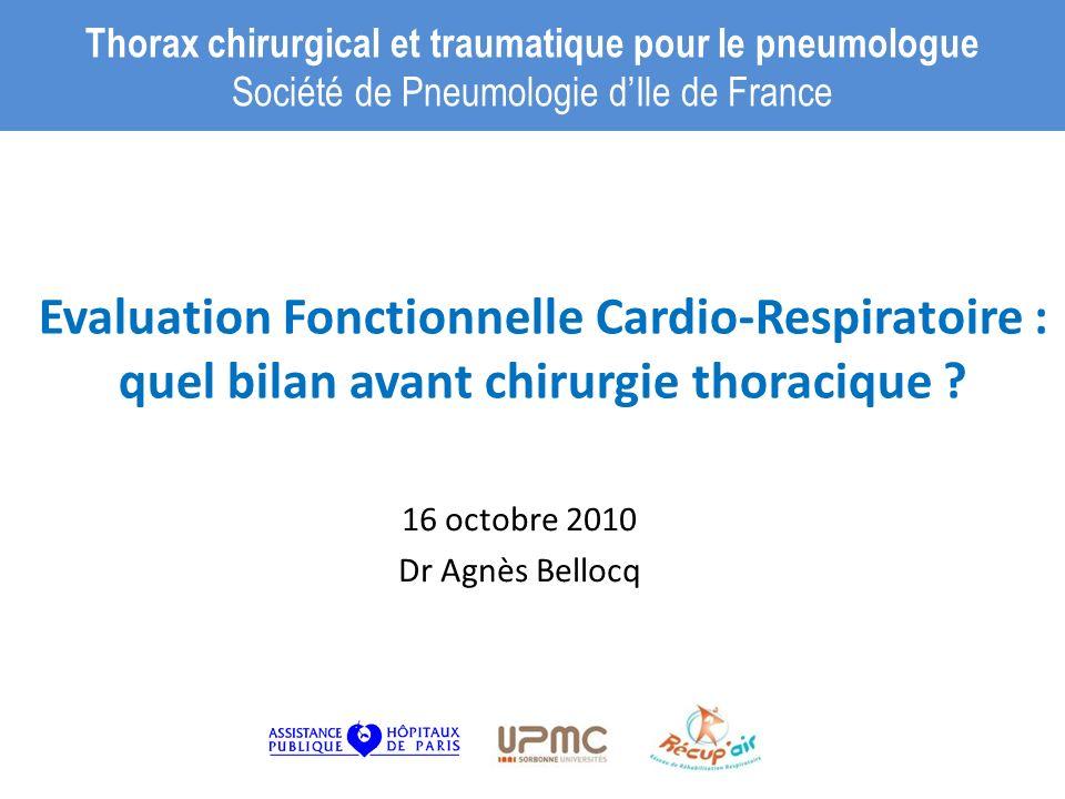 16 octobre 2010 Dr Agnès Bellocq