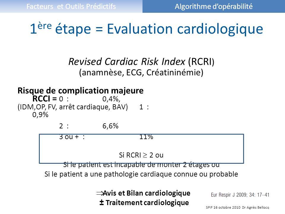 1ère étape = Evaluation cardiologique