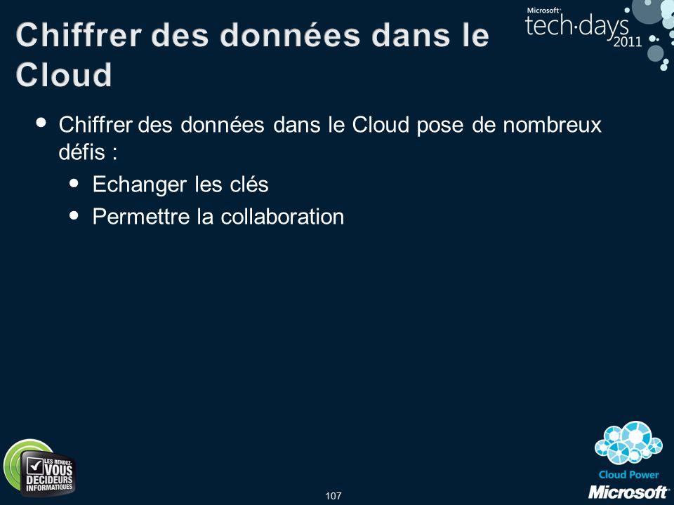 Chiffrer des données dans le Cloud
