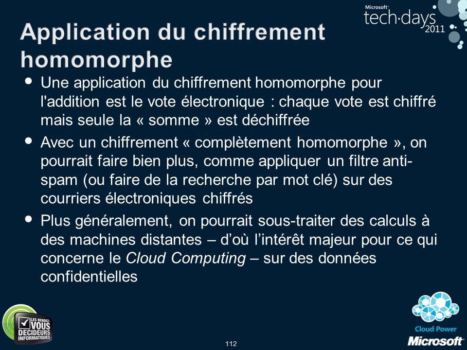 Application du chiffrement homomorphe