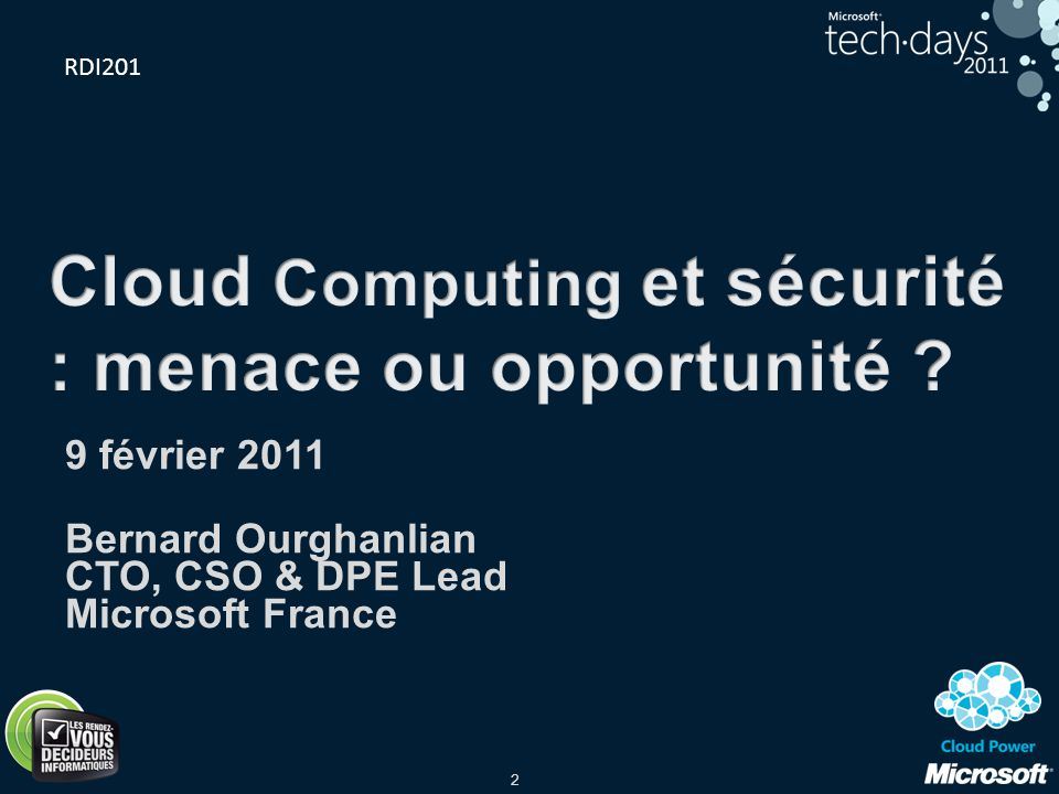 Cloud Computing et sécurité : menace ou opportunité