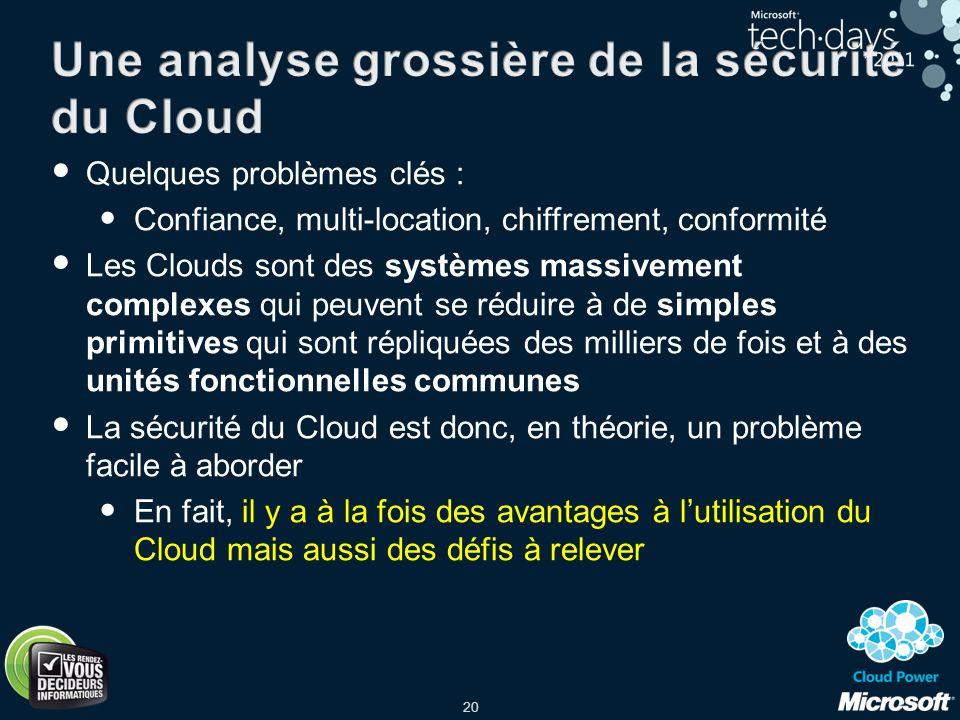 Une analyse grossière de la sécurité du Cloud