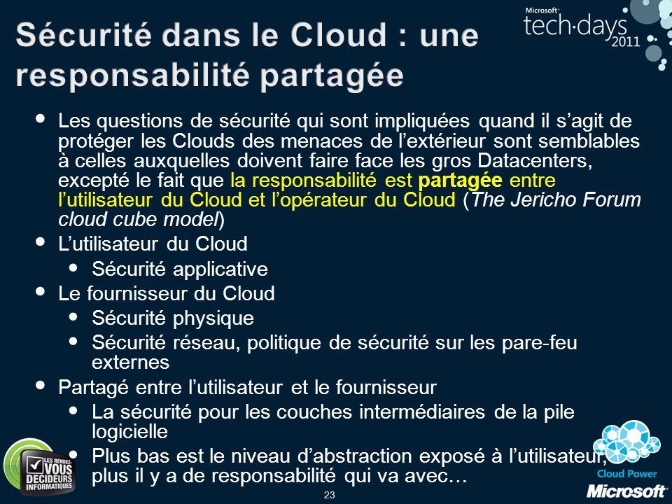 Sécurité dans le Cloud : une responsabilité partagée