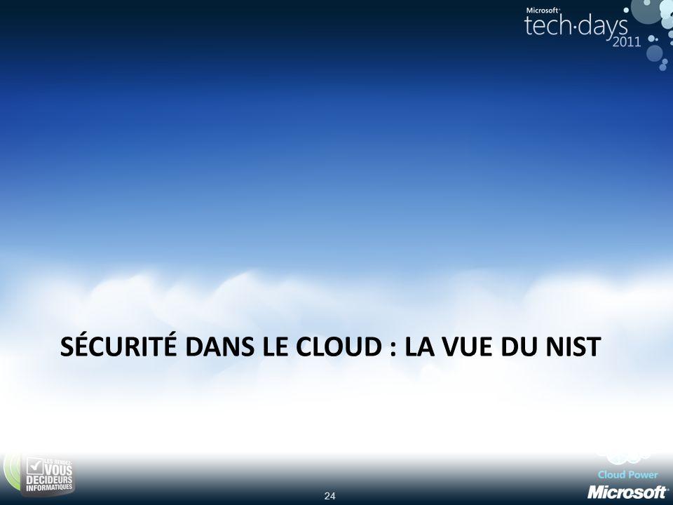 sécurité dans le Cloud : la vue du NIST
