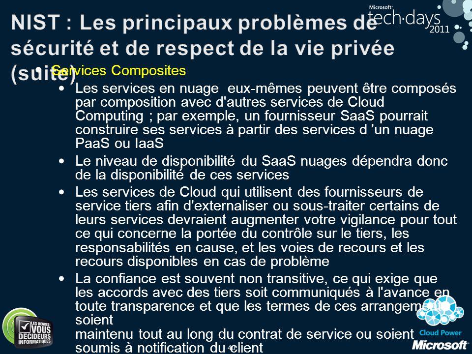 NIST : Les principaux problèmes de sécurité et de respect de la vie privée (suite)